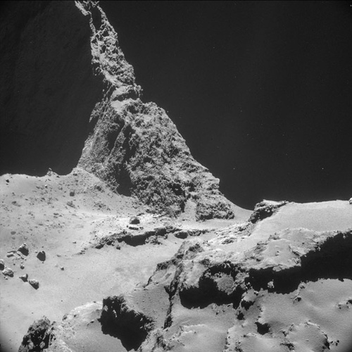NAVCAM top 10 at 10 km – 10 © European Space Agency