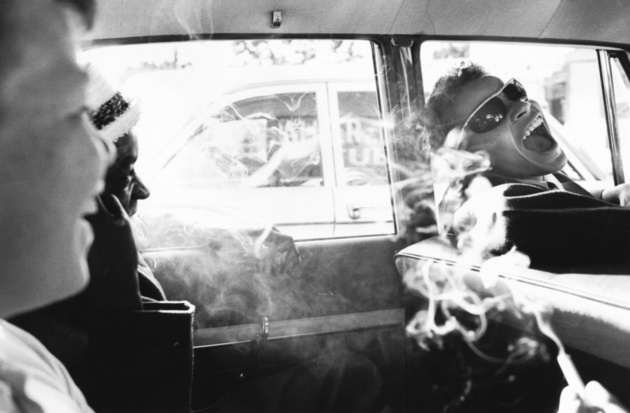 © Charles Harbutt Boys smoking in car 1963