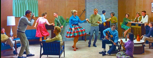 1961 г., Teen Dance in basement recreation room