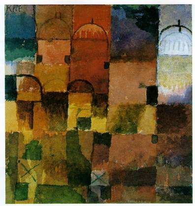 Paul Klee.  Red and White Domes. 1914
