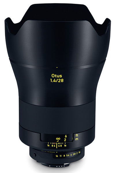 объектив Zeiss Otus 1.4/28 ZF.2 - Объектив Zeiss Otus 28mm f/1.4 для зеркальных камер Canon и Nikon