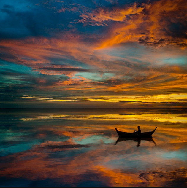 Sunset in Thailand © Laurent Hunziker