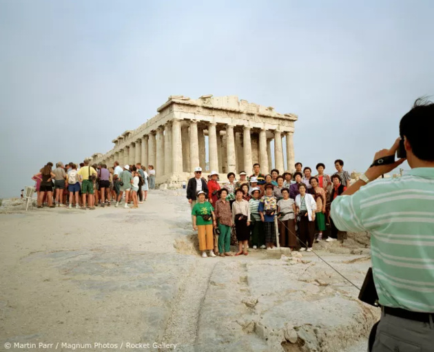 © Martin Parr / Magnum Photos / Rocket Gallery Acropolis, Athens, Greece, 1991. From 'Small World'.