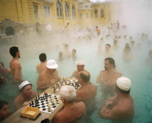 © Martin Parr / Magnum Photos / Rocket Gallery Szechenyi thermal baths, Budapest, Hungary, 1997.