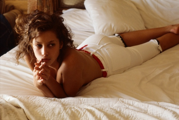 Denis Piel. Christy Turlington. Laguna Beach -1, CA. Vogue USA. 1987