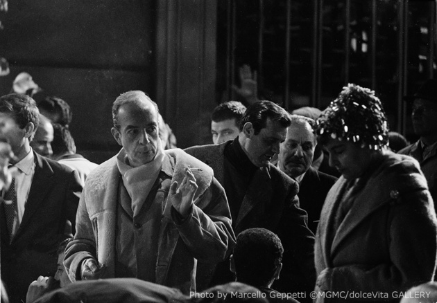 Vincente Minnelli on the set of Two weeks in another town. Rome, 1961