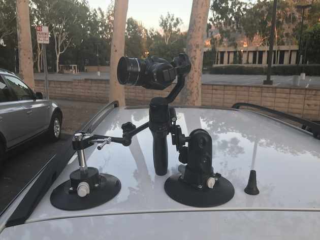 DJI Osmo X5 + Manfrotto Suction Cups. Июль 2017 года