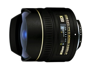 Nikon 10.5mm f/2.8G ED DX Fisheye-Nikkor — фишай для фотокамер с матрицей формата DX