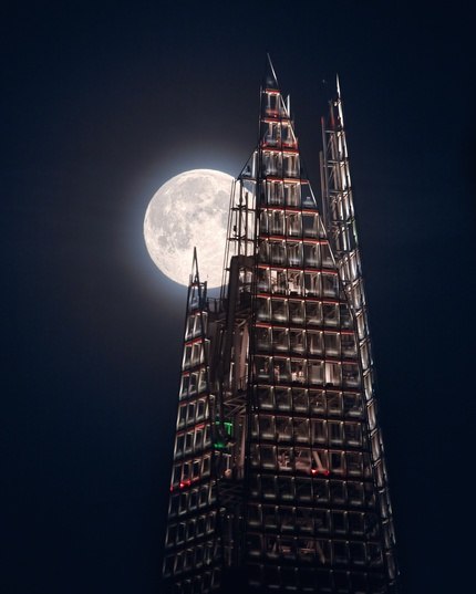 Southwark, London, UK The Moon And the Shard © Mathew Browne